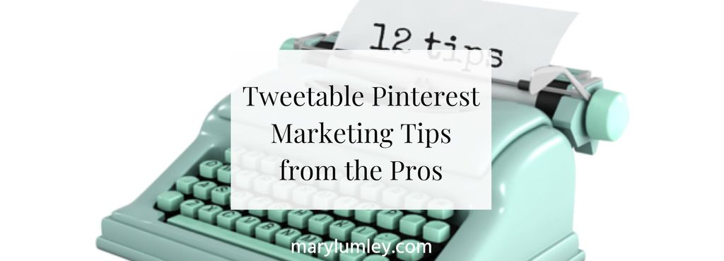 Tweetable Pinterest Marketing Tips from the Pros - Infographic