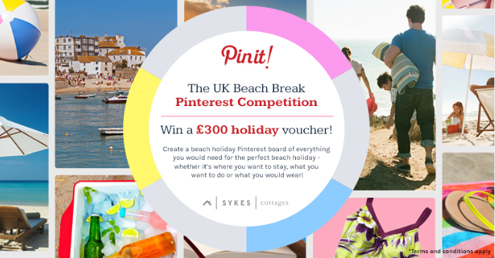 UK Beach Break - Pinterest Competition, Sykes Cottages