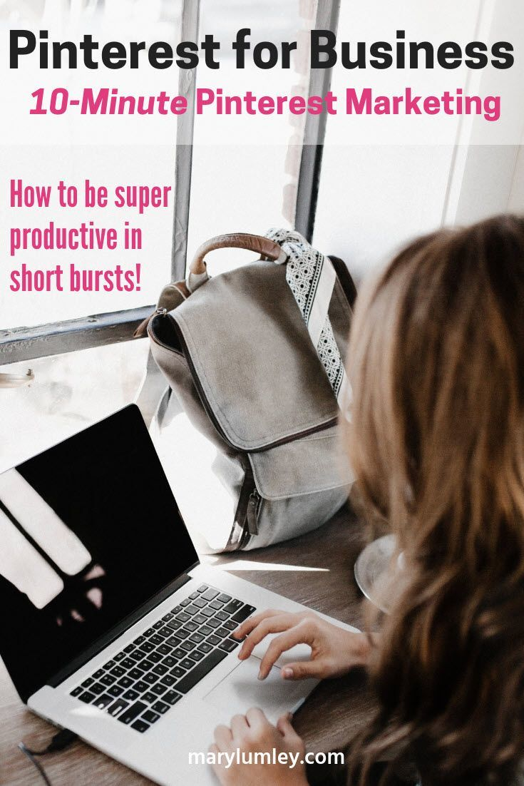 10-MINUTE PINTEREST MARKETING: HOW TO BE SUPER PRODUCTIVE IN SHORT BURSTS! Here are 10 quick Pinterest marketing tips that do not take more than 10-15 minutes. Perfect for those brief moments during the day when you find yourself with a few minutes to spare. Instead of disappearing down a social media rabbit hole, try some of these Pinterest tips to increase your visibility on Pinterest.