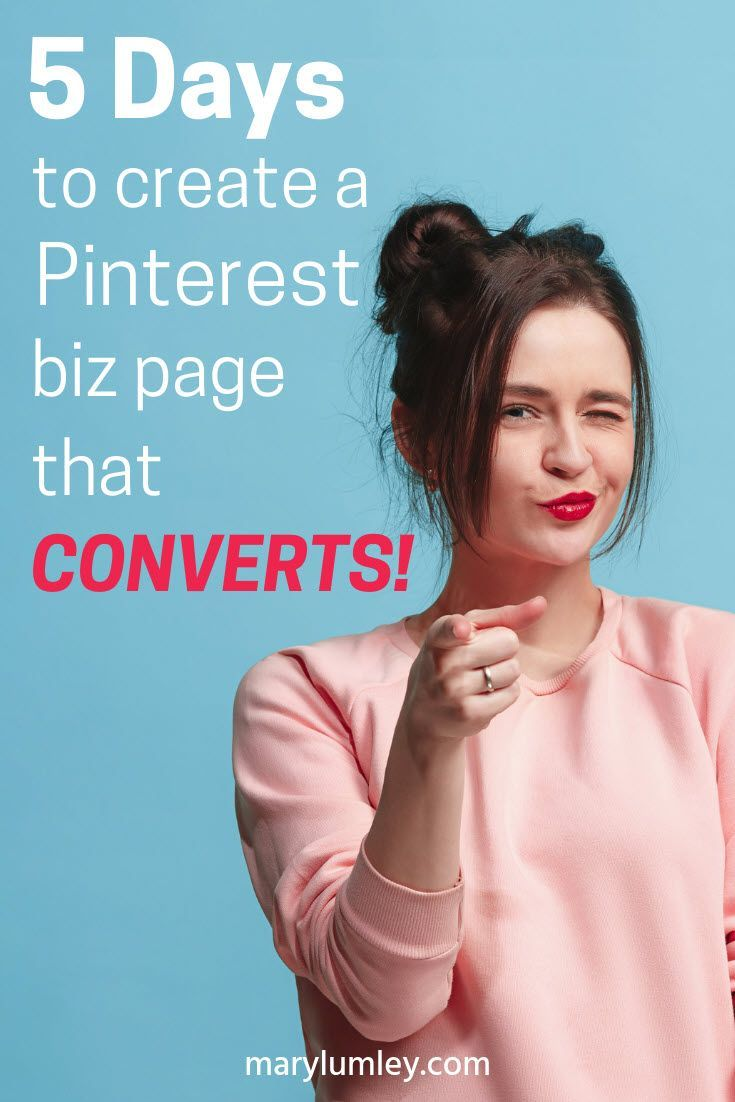 FREE Pinterest Course: 5 Days to Get Ready for Business with Pinterest! Here's how to create a Pinterest page that will generate traffic and leads. Pinterest for business. #pinterestcourse #pinteresttips #pinterestforbusiness #marylumley