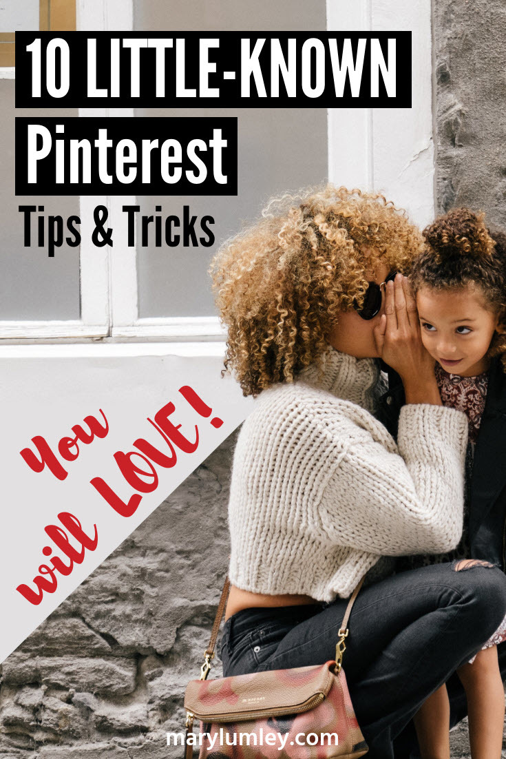 10 LITTLE-KNOWN PINTEREST TIPS & TRICKS YOU WILL LOVE! - I love discovering new ways to get the most out of Pinterest. In this blog post, I am sharing some of my favourite tricks that you can use to improve your marketing on Pinterest. I bet there are one or two tricks here that you have not seen before