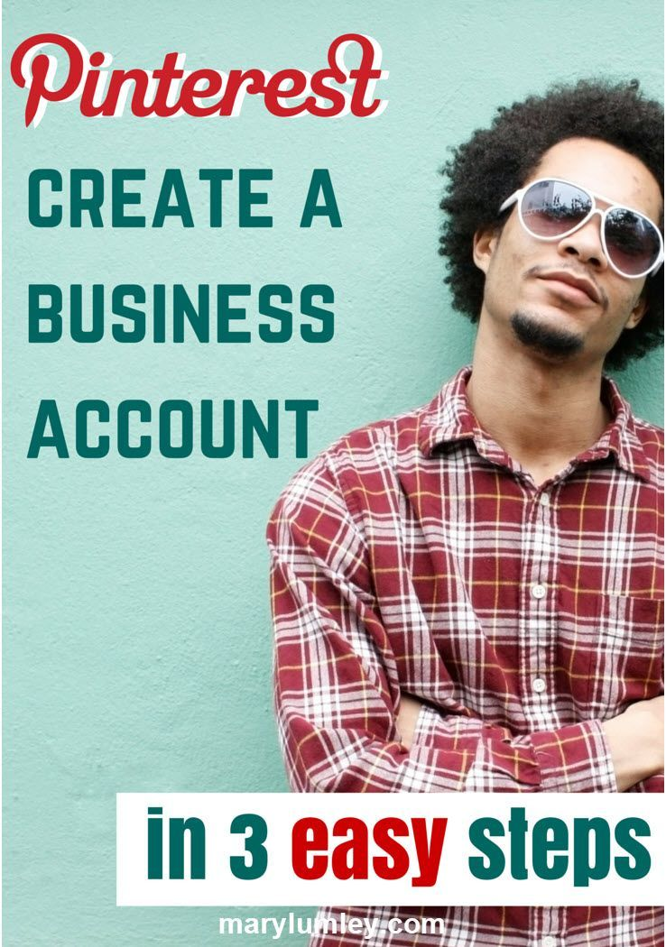HOW TO CREATE YOUR PINTEREST BUSINESS ACCOUNT - 3 SIMPLE Steps - You have decided to start marketing your business on Pinterest, but you are wondering where to get started? In this blog post, I will give you some practical advice how to set up your account. Setting up a Pinterest business account is pretty simple. Let's go!