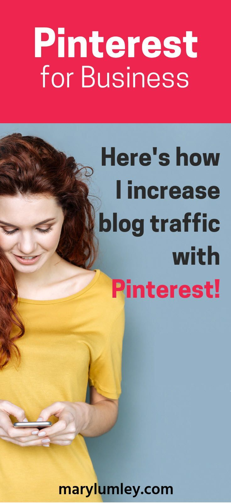 How to increase blog traffic with Pinterest – Here's how to use Pinterest to drive traffic to your blog.  Increase your business visibility and number of visitors to your #blog and your website!