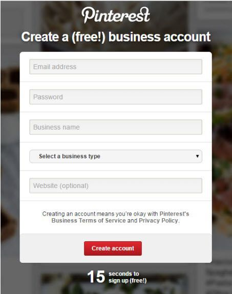 Pinterest Account SignUp