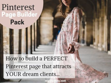Build a Pinterest Page that Drives TARGETED (& Free!) SITE TRAFFIC. Learn how to build a PERFECT Pinterest page that attracts your ideal client and sends highly targeted traffic to your website.