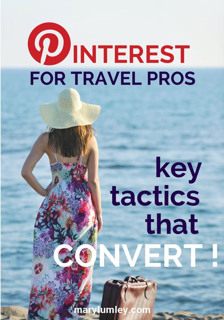 Pinterest for Travel Pros: Key Tactics That Convert! Travel is one of the most popular categories on Pinterest. Pinterest is a great tool for travel research, whether you are a tourist looking for inspiration for your next holiday or a travel professional. In this article, I will provide some tips and tactics describing how travel industry professionals can leverage Pinterest for their business. Bon voyage! ;-)