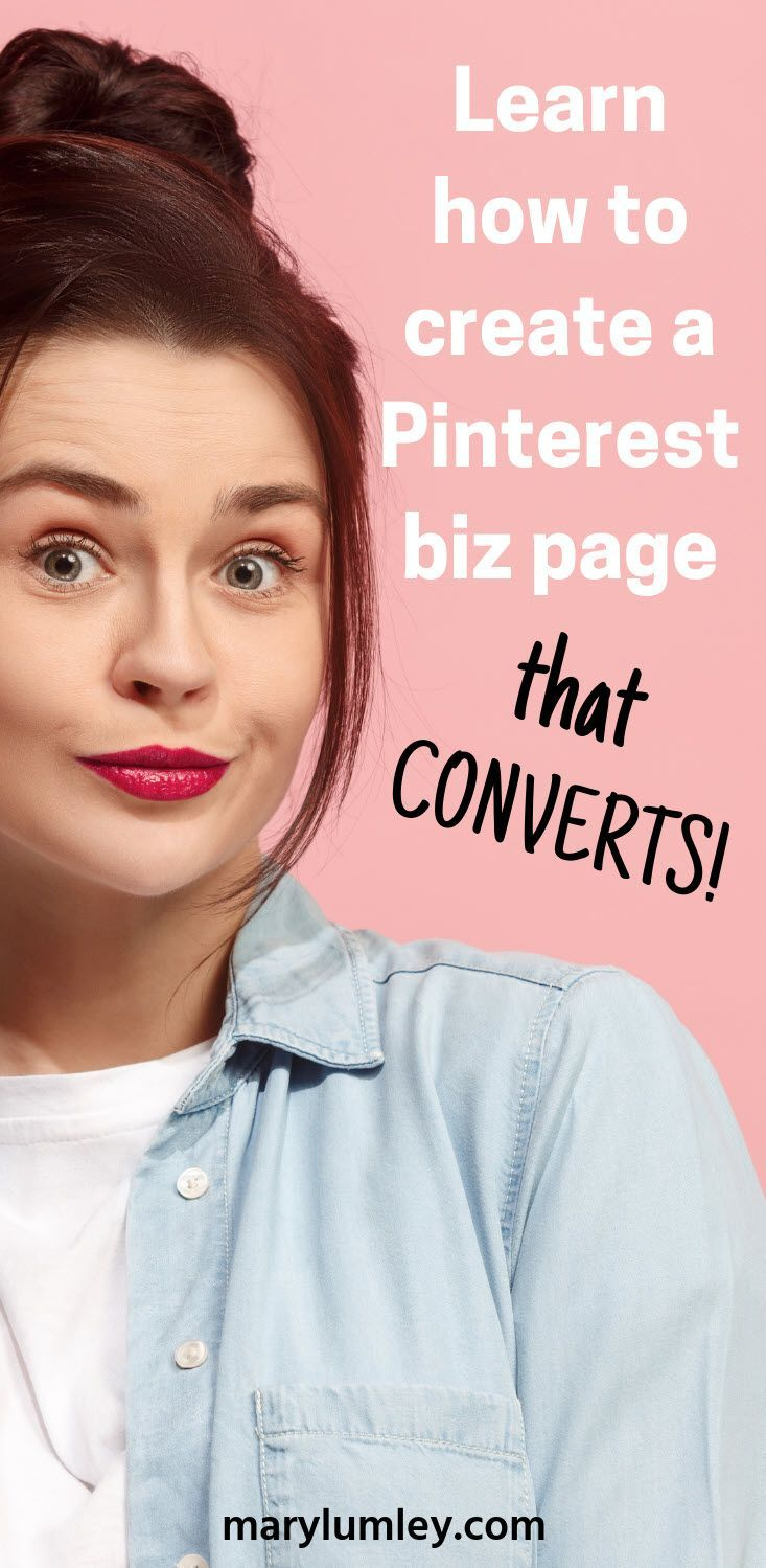 Increase Pinterest traffic to your website. Here's how to create a Pinterest Business page that converts! Learn how to optimize your Pinterest business account. Free Pinterest course #pintereststrategy #pinteresttutorial #pinteresttips #pinterestexpert #marylumley