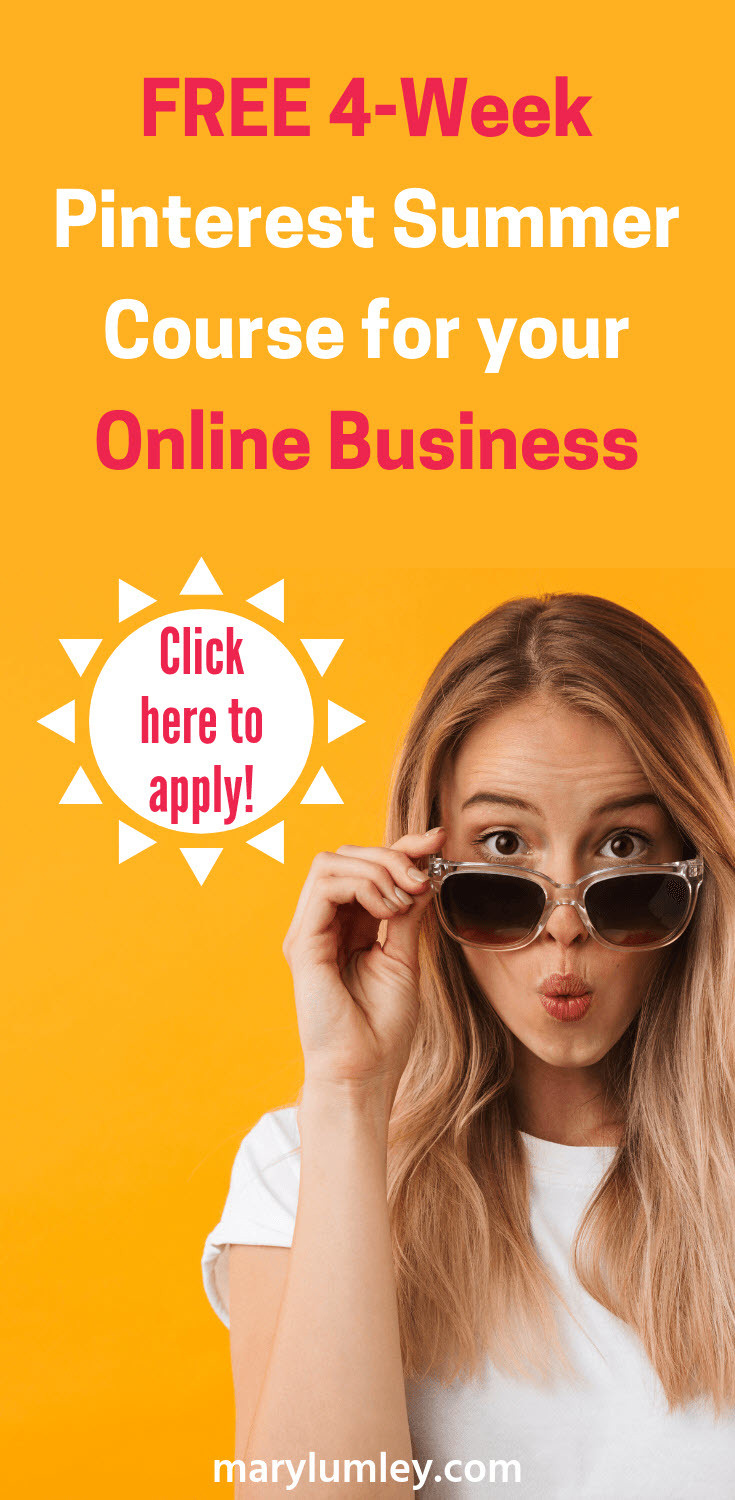 Join the Pinterest for Business Launchpad Class > FREE 4-week Pinterest course to learn how to boost your online business with Pinterest. Click to apply! #SOMBAsummerschool #pinteresttutorial #pinterestcourse #marylumley